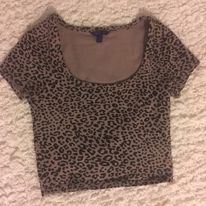 Cheetah print crop top